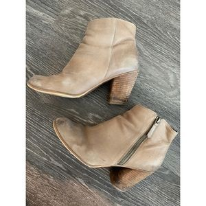BP Trolley brown leather ankle boots /booties 9.5